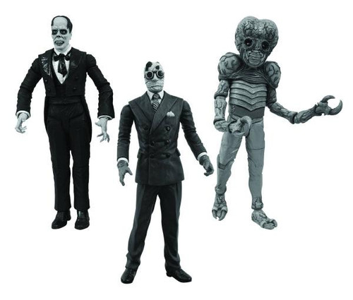 Universal Monsters Metaluna Mutant , Phantom of the Opera & Invisible Man Action Figure 3-Pack