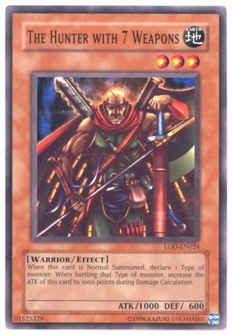 YuGiOh Legacy of Darkness Common The Hunter with 7 Weapons LOD-024