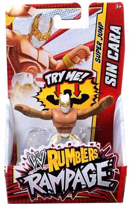 WWE Wrestling Rumblers Rampage Sin Cara Mini Figure [White & Gold Mask]