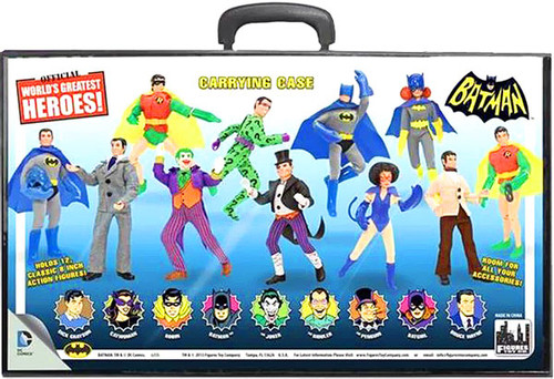 Batman World's Greatest Heroes Figures Displayed on Case Action Figure Case