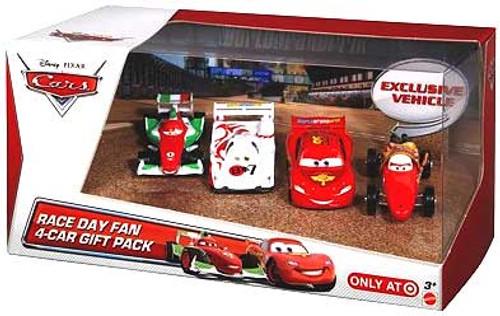 Disney Cars Multi-Packs Race Day Fan 4-Car Gift Pack Exclusive Diecast Car Set [Set #3]