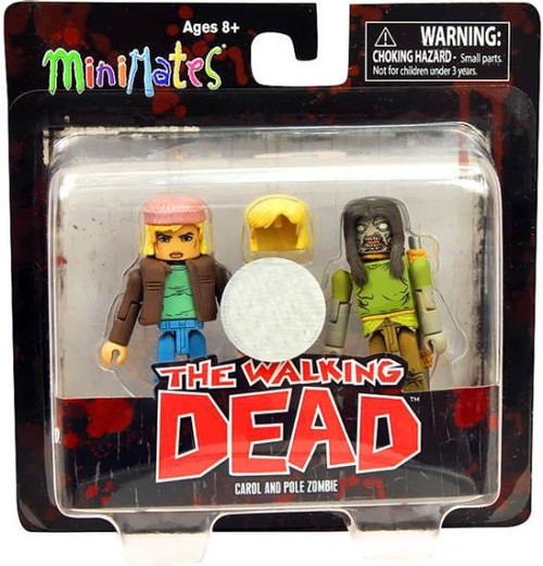 The Walking Dead Minimates Series 3 Carol & Pole Zombie Exclusive Minifigure 2-Pack