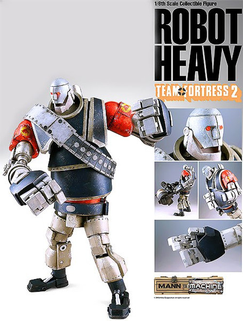 Team Fortress 2 Mann vs. Machine Red Heavy 1/6 Collectible Figure