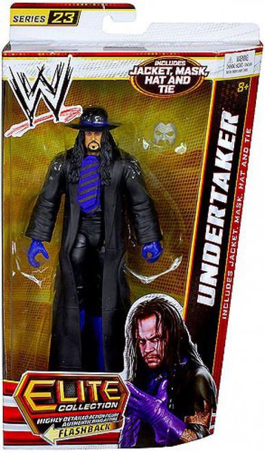 WWE Wrestling Elite Series 23 Undertaker Action Figure [Jacket, Mask, Hat & Tie]