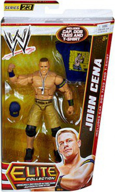 WWE Wrestling Elite Series 23 John Cena Action Figure [Cap, Dog Tags & T-Shirt]