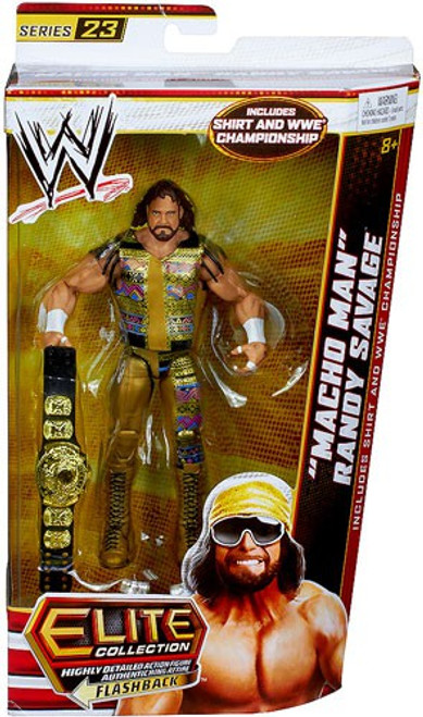 WWE Wrestling Elite Series 23 Macho Man Randy Savage Action Figure [Shirt & WWE Championship Winged Eagle Belt]