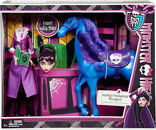 Monster High Headless Headmistress Bloodgood & Nightmare 10.5-Inch Doll 2-Pack