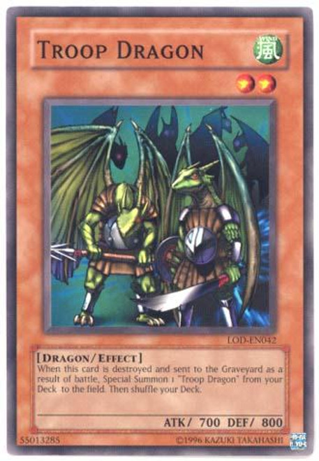 YuGiOh Legacy of Darkness Common Troop Dragon LOD-042