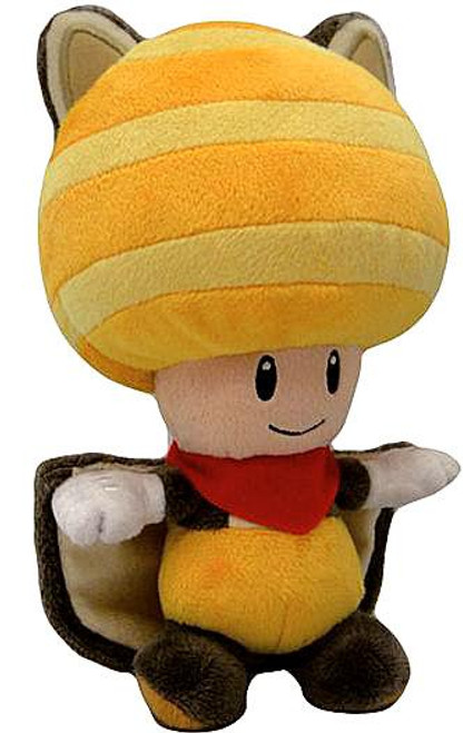 Super Mario Toad 8-Inch Plush [Yellow Flying Squirrel]