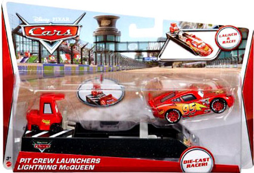 Disney Cars Pit Crew Launchers Lightning McQueen & Pitty Diecast Car [With Launcher]