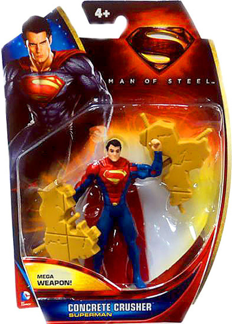 Man of Steel Superman Action Figure [Concrete Crusher]
