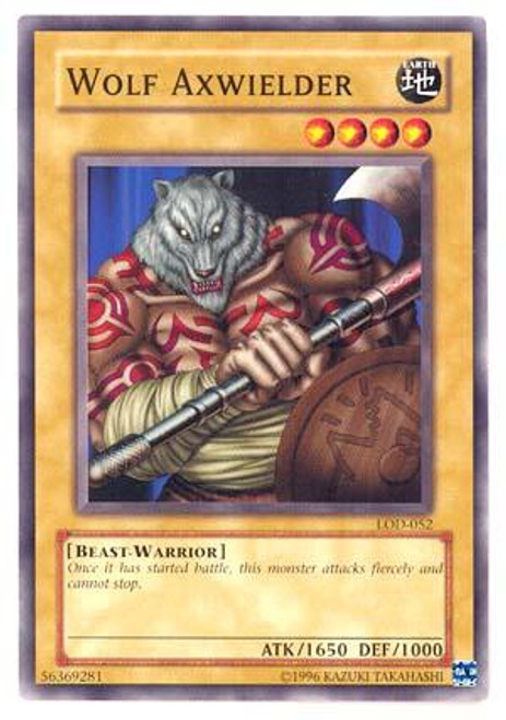 YuGiOh Legacy of Darkness Common Wolf Axwielder LOD-052
