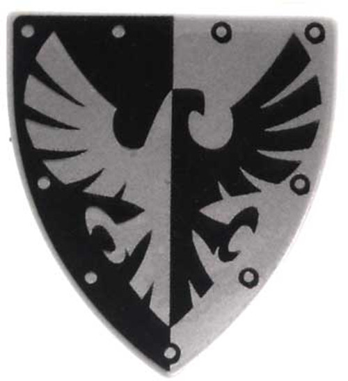 LEGO Castle Shields Small Black & Silver Eagle Shield [Loose]