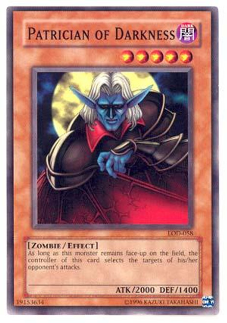 YuGiOh Legacy of Darkness Common Patrician of Darkness LOD-058