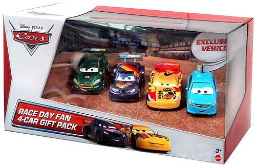 Disney Cars Multi-Packs Race Day Fan 4-Car Gift Pack Exclusive Diecast Car Set [Set #4]