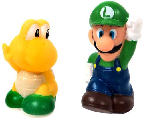 Super Mario Subarudo Luigi & Koopa Troopa 2-Inch Mini Figures