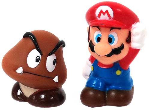 Super Mario Subarudo Mario & Goomba 2-Inch Mini Figures