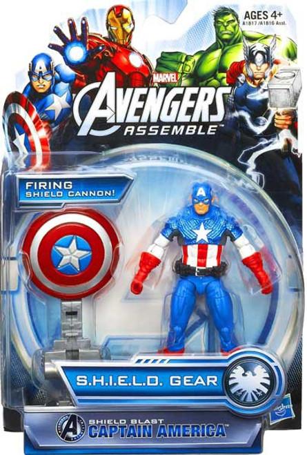 Marvel Avengers Assemble SHIELD Gear Shield Blast Captain America Action Figure