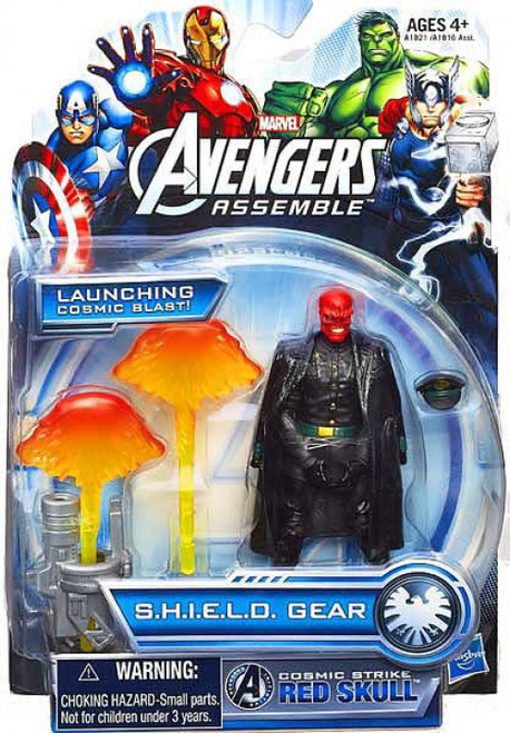 Marvel Avengers Assemble SHIELD Gear Cosmic Strike Red Skull Action Figure