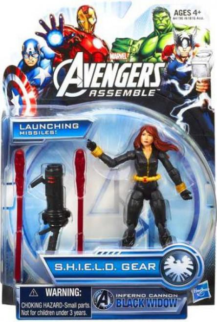 Marvel Avengers Assemble SHIELD Gear Inferno Cannon Black Widow Action Figure