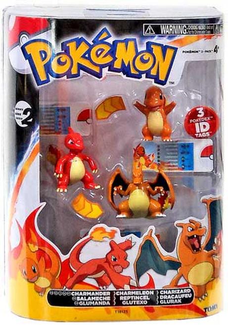 Pokemon Black & White Evolution Charmander, Charmeleon & Charizard Figure 3-Pack