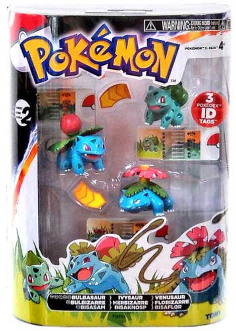 Pokemon Black & White Evolution Bulbasaur, Ivysaur & Venusaur Figure 3-Pack