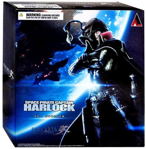 Space Pirate Captain Harlock Play Arts Kai Captain Harlock Action Figure