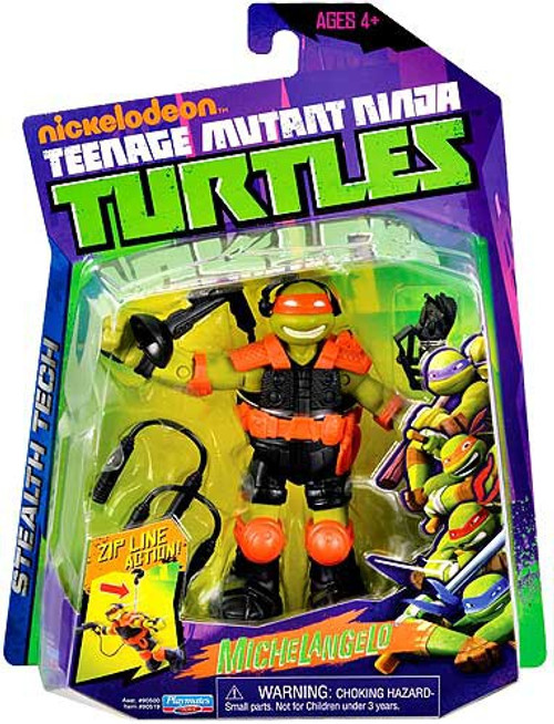 Teenage Mutant Ninja Turtles Nickelodeon Stealth Tech Michelangelo Action Figure