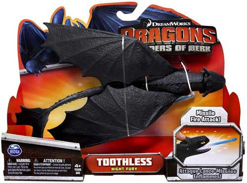 How to Train Your Dragon Defenders of Berk Toothless Action Figure [Night Fury, Missile Fire Attack]