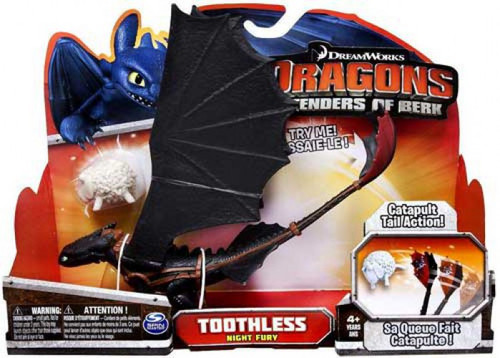 How to Train Your Dragon Defenders of Berk Toothless Action Figure [Night Fury, Catapult Tail Action]