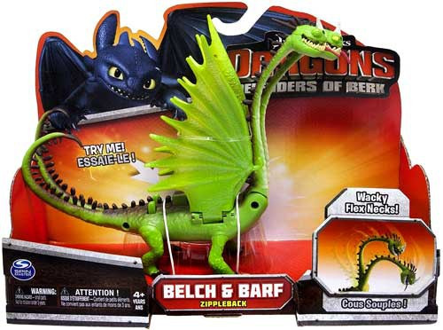 How to Train Your Dragon Defenders of Berk Belch & Barf Action Figure [Zippleback]