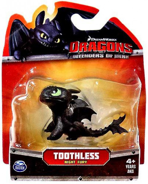 How to Train Your Dragon Dragons Defenders of Berk Toothless 3-Inch Mini Figure [Night Fury Looking Up]