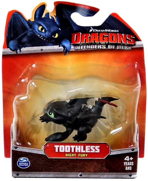 How to Train Your Dragon Dragons Defenders of Berk Toothless 3-Inch Mini Figure [Night Fury Crouching]