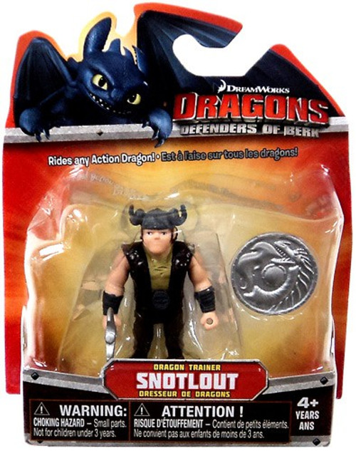 How to Train Your Dragon Dragons Defenders of Berk Snotlout 3-Inch Mini Figure