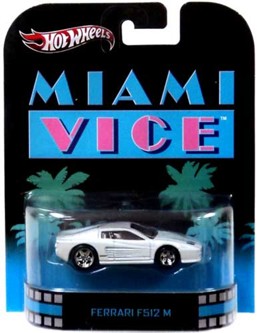 Miami Vice Hot Wheels Retro Ferrari F512 M Diecast Vehicle