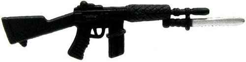 GI Joe Loose Black Assault Rifle with Bayonet 3.75-Inch Loose Weapon