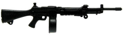 GI Joe Loose Weapons Light Machine Gun with Drum Magazine Action Figure Accessory [Black Loose]