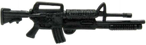 GI Joe Loose Weapons M16 with Masterkey Action Figure Accessory [Black Loose]