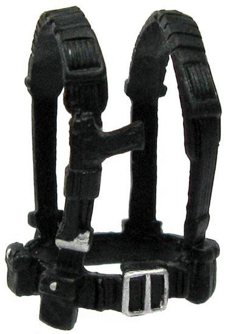 GI Joe Loose Webgear with Silver Buckle Action Figure Accessory [Black Loose]