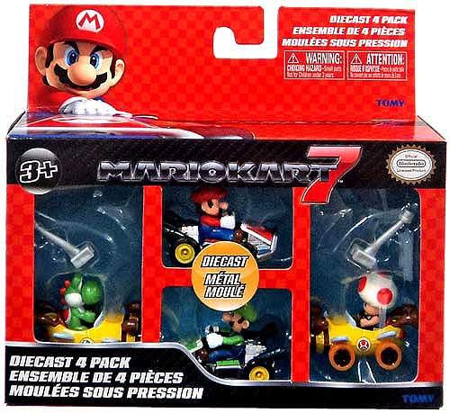 Super Mario Mario Kart 7 Yoshi Bee Kart, Toad Bee Kart, Mario & Luigi Diecast Vehicles