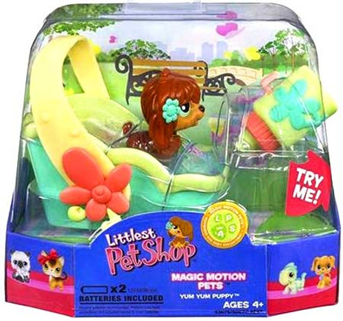 Littlest Pet Shop Magic Motion Pets Yum Yum Puppy Figure
