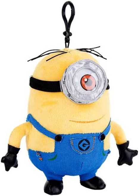 Despicable Me 2 Minion Stuart Plush Clip On