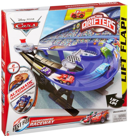 Disney Cars Micro Drifters Transforming Raceway Mini Car Playset