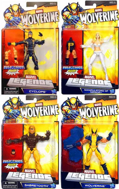 Wolverine Marvel Legends Puck Series Exclusive Set of 4 Action Figures