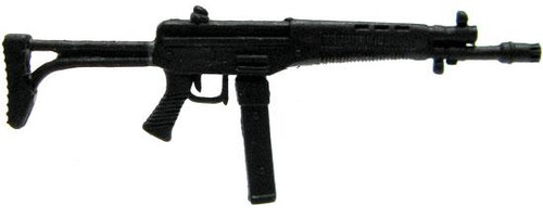 GI Joe Loose Weapons AK Assault Rifle with Wire Stock Action Figure Accessory [Black Loose]