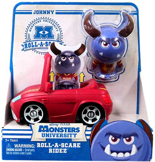 Disney / Pixar Monsters University Roll-a-Scare Ridez Johnny Figure Set