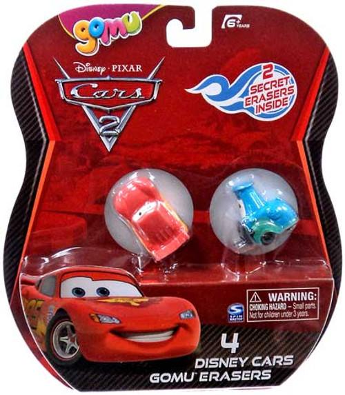 Disney Cars Cars 2 Gomu Lightning McQueen & Guido Gomu Erasers 4-Pack