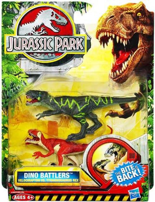 Jurassic Park Dino Battlers Velociraptor vs Tyrannosaurus Rex Figure 2-Pack