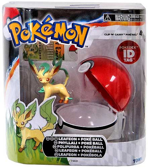 Pokemon Clip n Carry Pokeball Leafeon with Poke Ball Figure Set