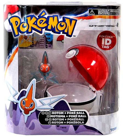 Pokemon Clip n Carry Pokeball Rotom & Poke Ball Figure Set